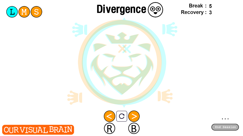 Divergence is designed to help gain increased control of binocular fusion in far activities. This activity requires you to relax your gaze like when you are looking at a beautiful sunset. 