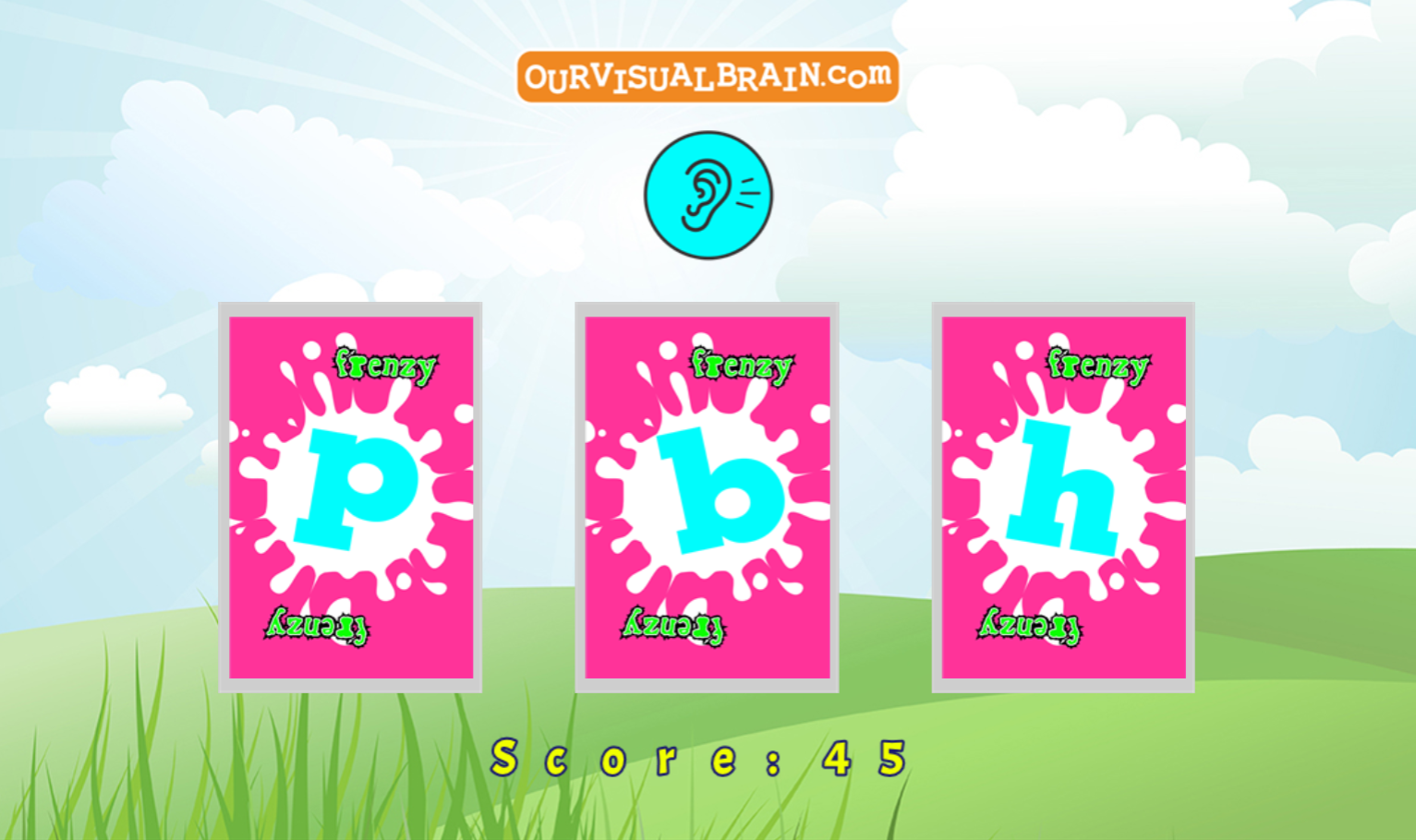 MFBF Letter Sound Skill Building:  Listen to the letter sound and click on the corresponding letter.