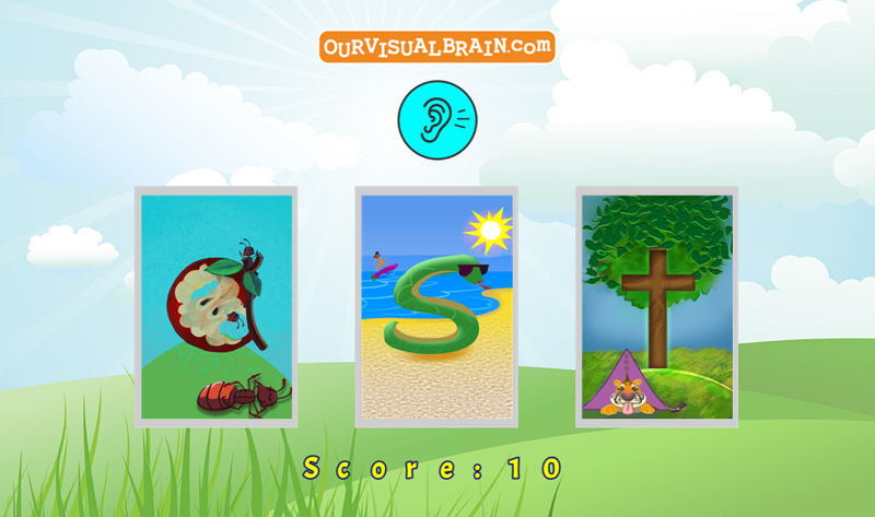 Red/Green Letter Sound Skill Building:  Listen to the letter sound and click on the corresponding letter.